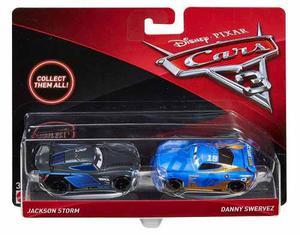 Cars 3 Pack Doble Jackson Storm Y Danny Swervez