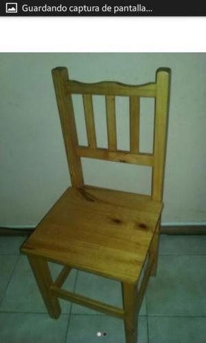 Escritorio y silla de pino