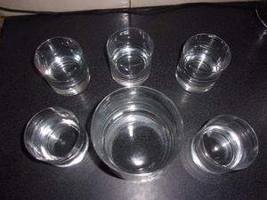 Juego De Vasos Para Whisky Y Hielera de Cristal
