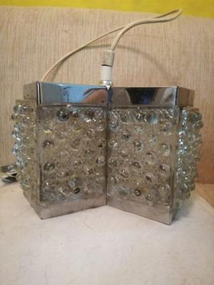 Lampara Colgante Metal Y Vidrio Diseño Retro Vintage