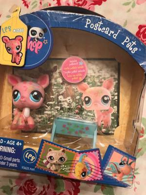 Littlest pet shop postcard mascota sin uso