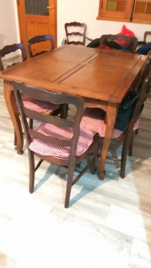Mesa de madera Antigua de Roble