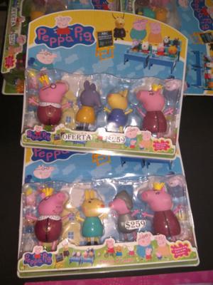 Set muñecos de Peppa $259 y muchas ofertas mas