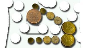 monedas  AUSTRALES-(DEVALUACION)25 PESOS CADA UNA