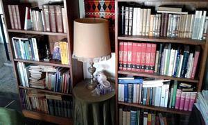 Bibliotecas enchapadas en madera pino lustradas (CASI UN