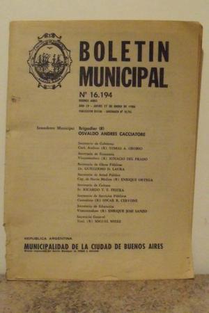 Boletin Municipal De La Ciudad De Buenos Aires  N°