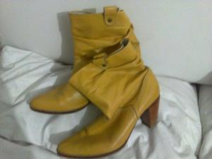 Botas De Cuero color camel