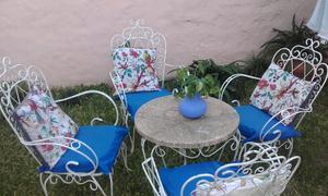 Juego de jardin hierro antiguo posot class for Juegos de jardin de hierro