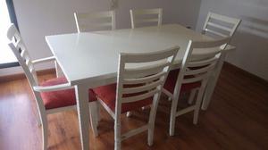 Juego mesa y sillas madera