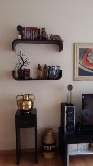 Modular con Biblioteca y mesa de TV