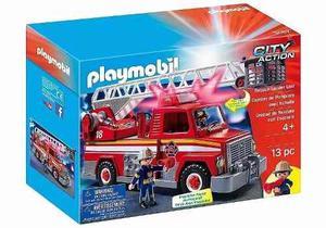 Playmobil Camion De Bomberos Con Luz Y Sonido  Autobomba