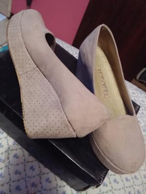 Zapatos gamuza nro 37
