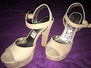 Zapatos gamuza sin uso importados