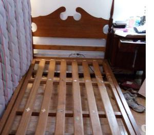 cama de madera de 1 12 plaza