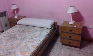 dormitorio completo de plaza y media