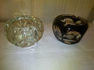 2 Ceniceros de cristal