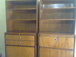 2 modulos cama plegable 1 plaza con biblioteca se venden