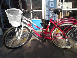 BICICLETA DE MUJER PASEO IMPECABLE! ROD 26