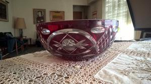 Bowl de cristal tallado con 6 compoteras