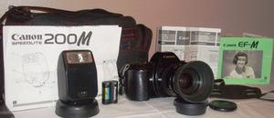 Cámara Canon Ef - M Analógica + Flash Canon Speedlite 200