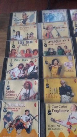 LOTE DE 22 CD DE LA COLECCIÓN DEL ROCK NACIONAL