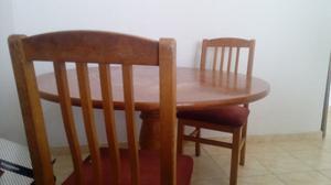 Mesa de roble y sillas - $