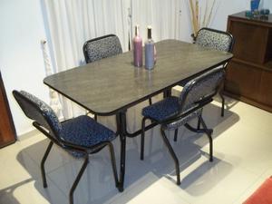 Mesa y 4 sillas caño reforzado !! Flete sin cargo !!