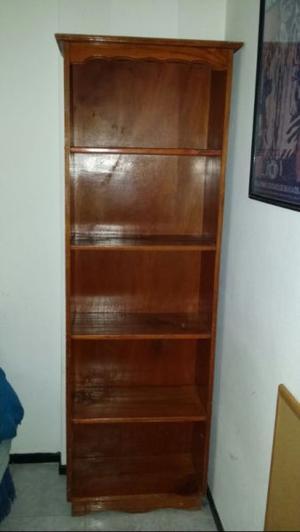 Sommier con colchón de 1 plaza y biblioteca de madera, todo
