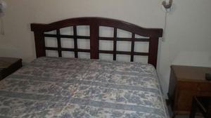 Vendo cama algarrobo y colchón