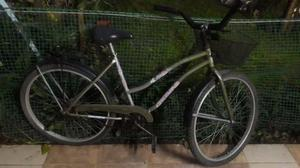bicicleta rodado 26 de mujer. color verde claro