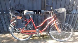 bicicleta rodado 26 de mujer con silla de bebe