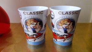 combo tazas romanticas ceramica 10x9cm. NUEVAS
