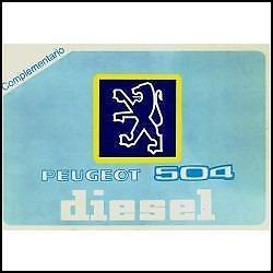 peugeot 504 diesel  suplemento de manual original