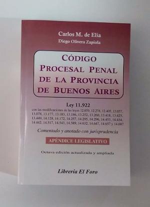 De Elía Y Olivera Zapiola - Código Procesal Penal De La
