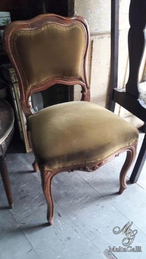 Hermosa Silla Antigua Estilo Francés Luis XV. Cód.: #