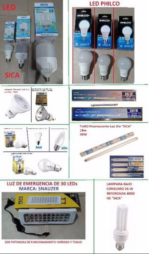LAMPARA LED LUZ DE EMERGENCIA BAJO CONSUMO HALOGENA CUARZO