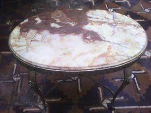 Mesa ratona de Marmol y bronce De estilo