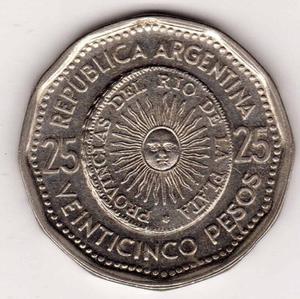 Moneda de 25 pesos moneda nacional