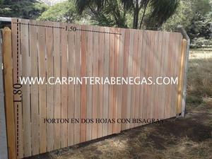 Alambre mar del plata portones y puertas posot class - Portones de madera para exterior ...