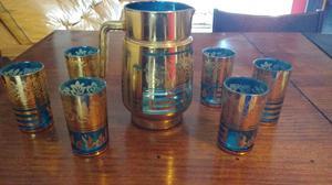 Set de jarra y juego de vasos estilo árabe