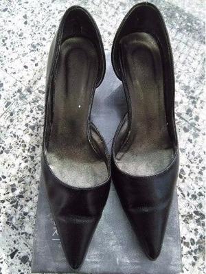 Zapatos Stilletto Taco Chino Negro