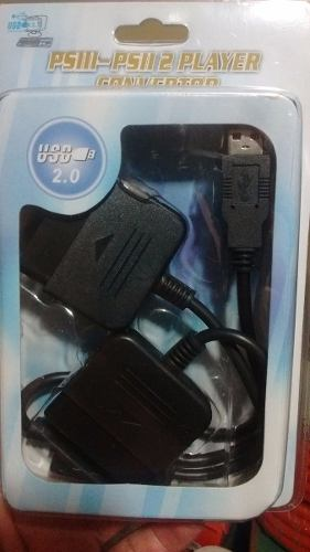 Adaptador Para Joystick De Ps2 Playstation 2 A Pc Usb Doble