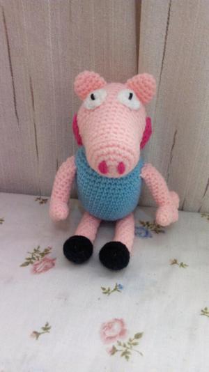 Chanchito tejido a crochet