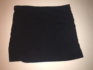 Falda negra de algodón con volados en razo o  9baf72c8016c