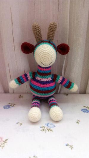 Jirafa tejido a crochet