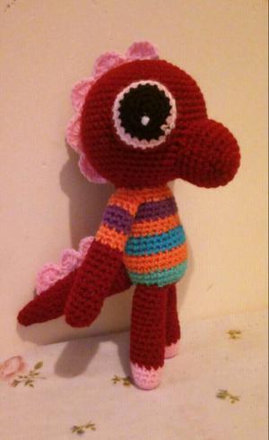 Lagarto tejido a crochet