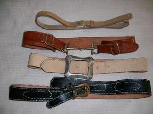 Lote cinturones de cuero de mujer!!! Impecables!!!!