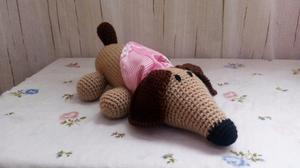 Perro Salchicha tejido Crochet
