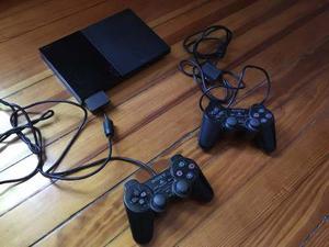 Playstation 2 Slim Chipeada + Memorycard + Joysticks + Pes10