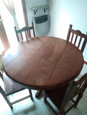 VENDO mesa algarrobo  sillas